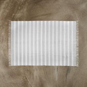 SILENT DANCER Teppich Streifen grau 160