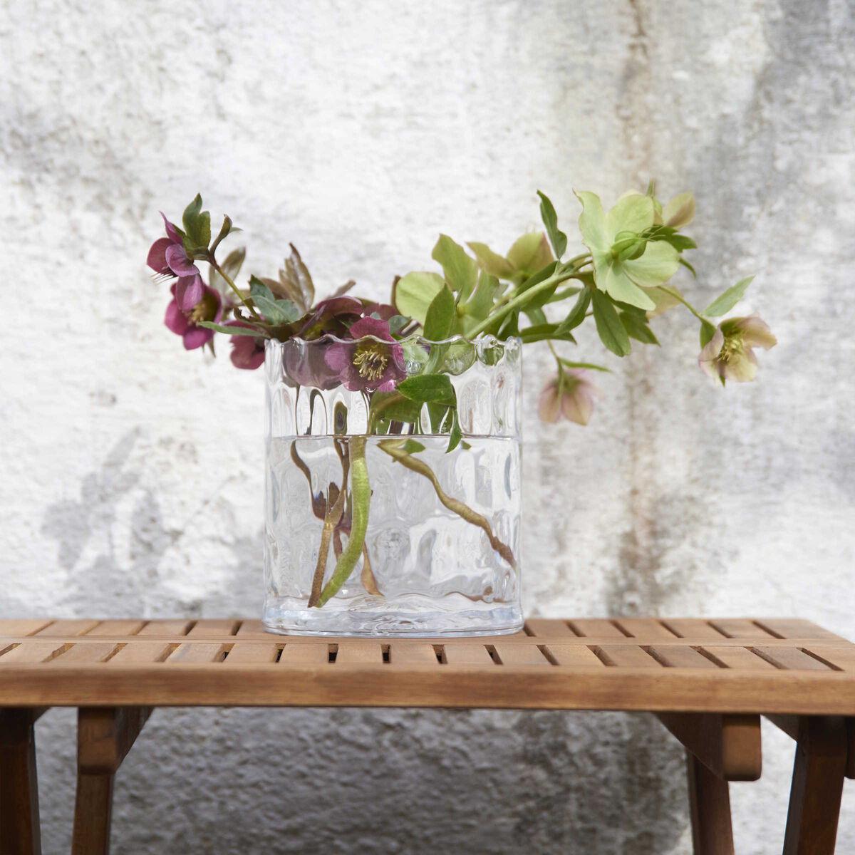 AGATA Zylinder Vase mit Struktur 22cm