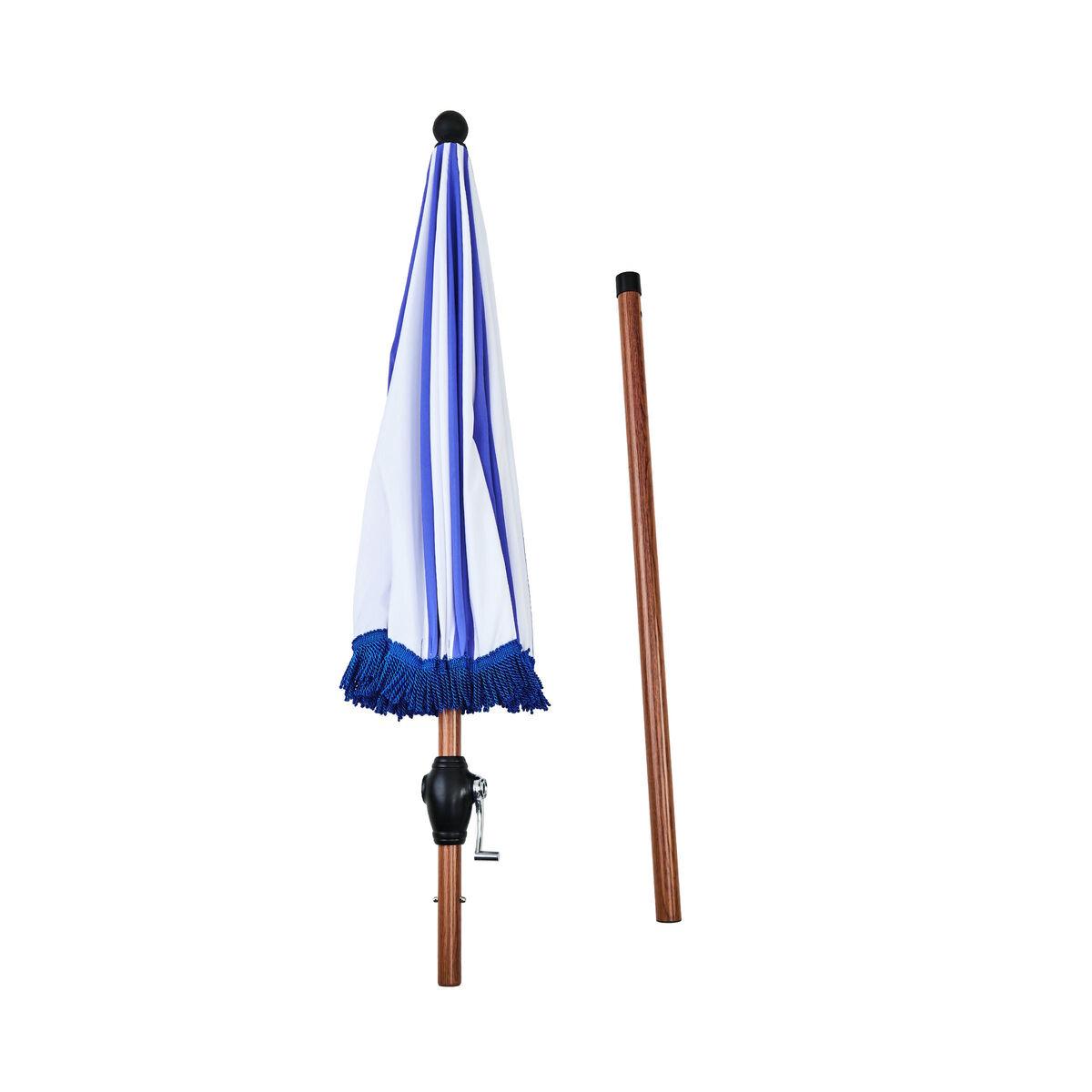 MIAMI Sonnenschirm blau/weiß gestreift