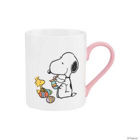 PEANUTS Tasse Snoopy & Woodstock rosa