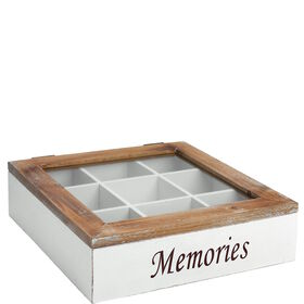 "CAMPAGNE Box mit Glasdeckel ""Memories"""