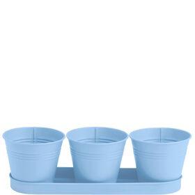 ZINC Kräutertöpfe 4-tlg., blau