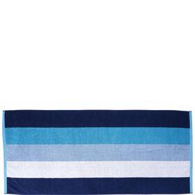 BIG BLUE Strandtuch blau gestreift 80x18