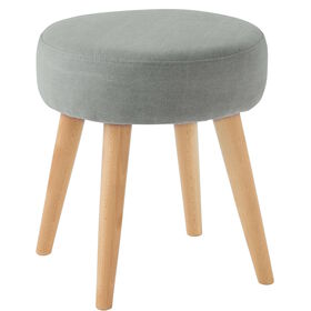 COZY TIME Hocker stone washed grey