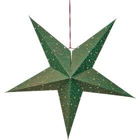 LATERNA MAGICA Stern grün/rot glitzer St