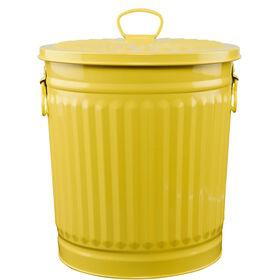 ZINC Zinkmülleimer  30 cm gelb