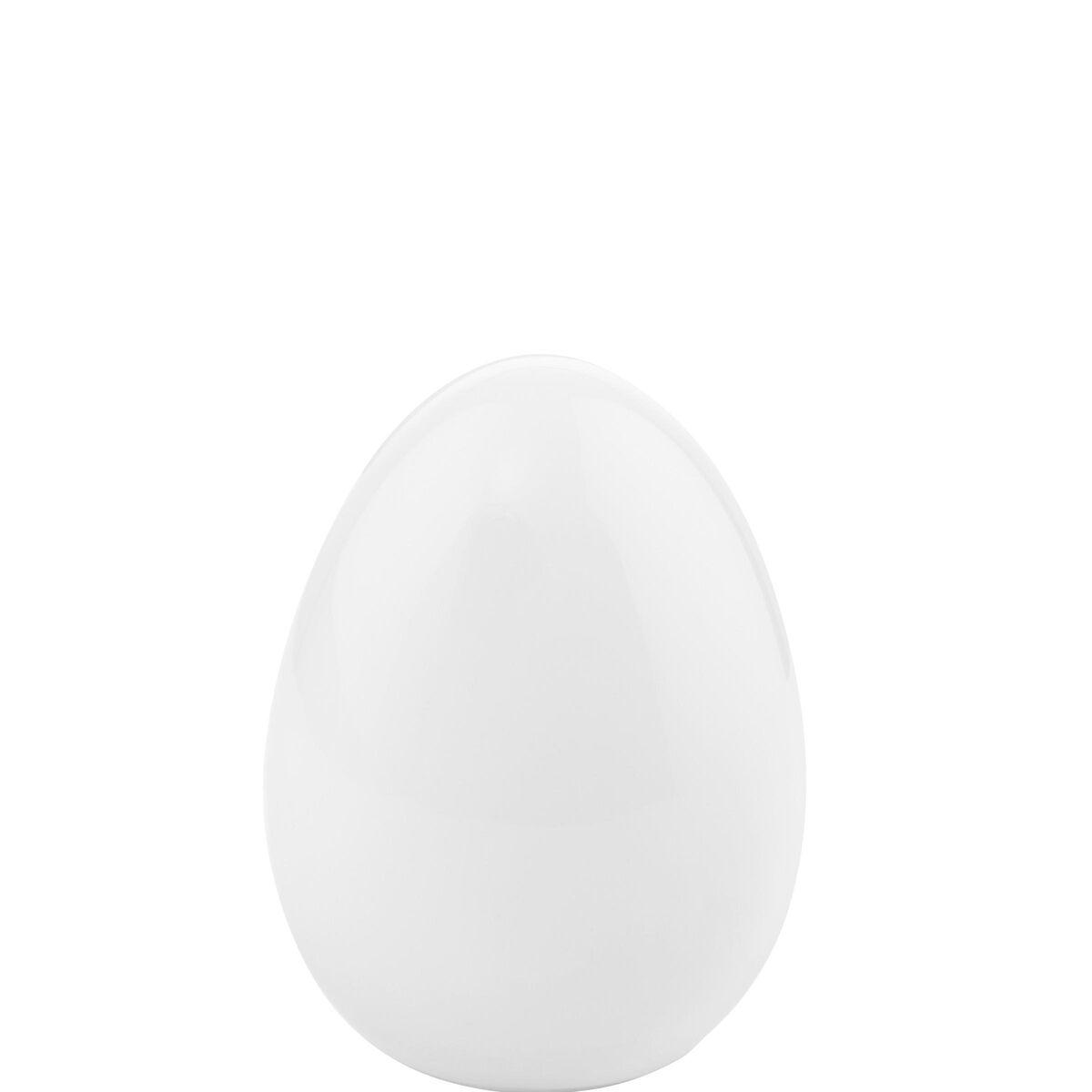 EASTER Keramik Ei 10cm, weiß