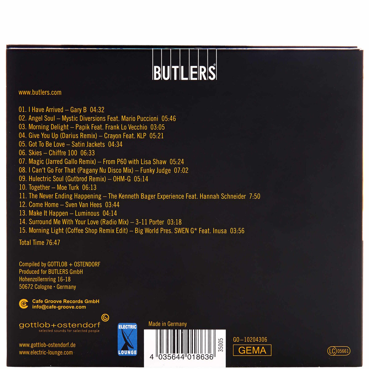 Weekend tunes freizeit songs butlers for Butlers katalog