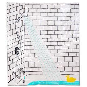 WET WET WET Duschvorhang Ente