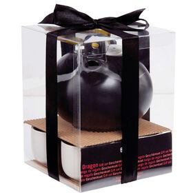 DRAGON Teekanne schwarz, 4 Tassen weiß