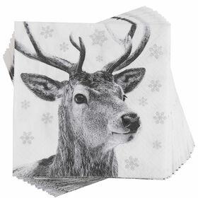 APRÈS Papierserviette Winterhirsch