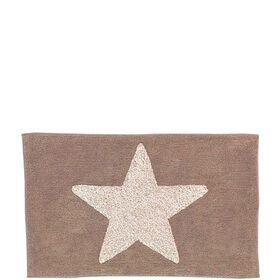 MIAVILLA Badematte Star taupe 70 x 120cm