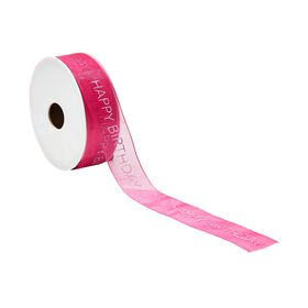 RIBBON Geschenkband HAPPY BIRTHDAY pink