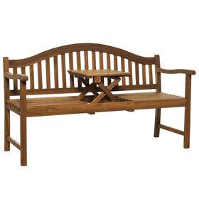 BANQUETTE Bank mit aufklappbarem Tisch