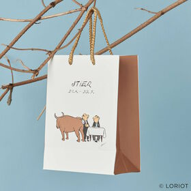 LORIOT Geschenktasche Stier