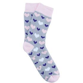 COZY SOCKS Socke Herzen grau 39-42