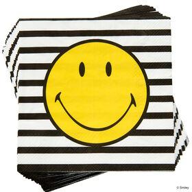 SMILEY Papierserviette Smiley s/w Streif