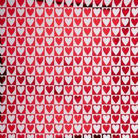 SURPRISE Geschenkpapier Herzen metallisc