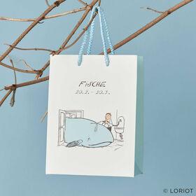 LORIOT Geschenktasche Fische