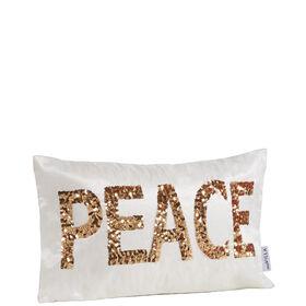 MIAVILLA Kissenhülle Peace weiß/gold