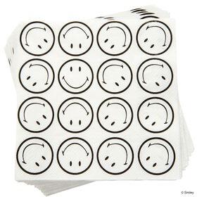 SMILEY Papierserv. Smiley allover s/w