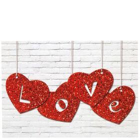 CARD Postk.farb.: Herzhänger/Love