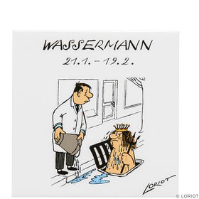 LORIOT Kühlschrankmagnet Wassermann