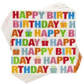 APRÈS Serviette Happy Birthday