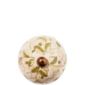 OPEN Möbelknopf rund Ornament olivgrün