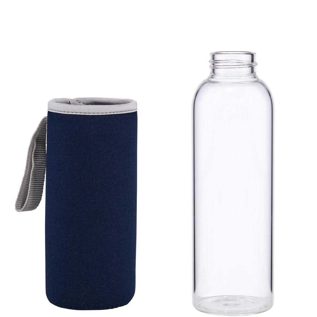 smoothie trinkflasche mit tasche blau 500ml butlers. Black Bedroom Furniture Sets. Home Design Ideas