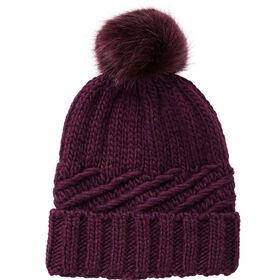 BOUTIQUE Mütze Fake Fur Bommel bord/bord