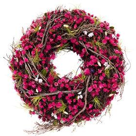 FLORISTA Blumen Kranz pink Ø40cm