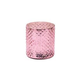 DELIGHT Teelichthalter Glas 8cm, rose