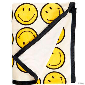 SMILEY Flanell Decke Smiley 130x170 cm