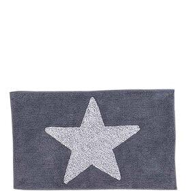 MIAVILLA Badematte Star grau 60 x 100 cm