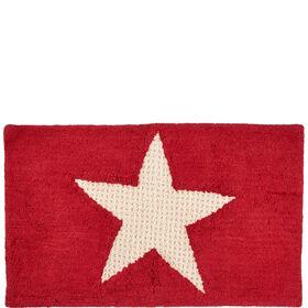STAR Badematte Stern rot