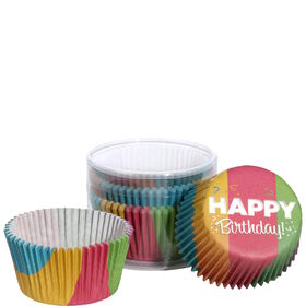 CUPCAKE Papierförm. Happy Birthday 75Stk