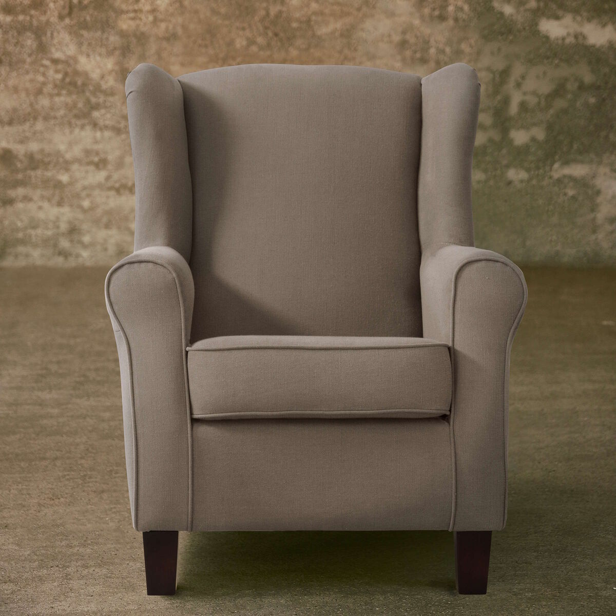 CHANDLER Ohrensessel taupe