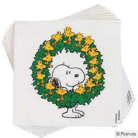 PEANUTS Papierserviette Snoopy m. Kranz