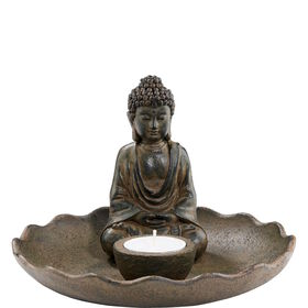 BUDDHA Schale mit Teelichthalter Ø18,5cm