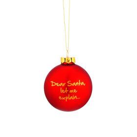 NAUGHTY BAUBLES Glaskugel 8cm Dear Santa
