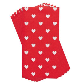HEARTS Taschentücher Herzen rot