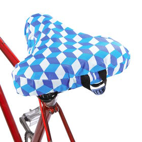 I LOVE MY BIKE Sattelbezug Graphics blau