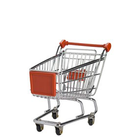 SUPERMARKET Einkaufswagen klein rot
