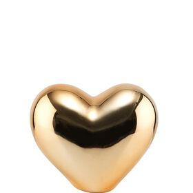 LOVE Deko Herz aus Keramik 8,5cm, gold