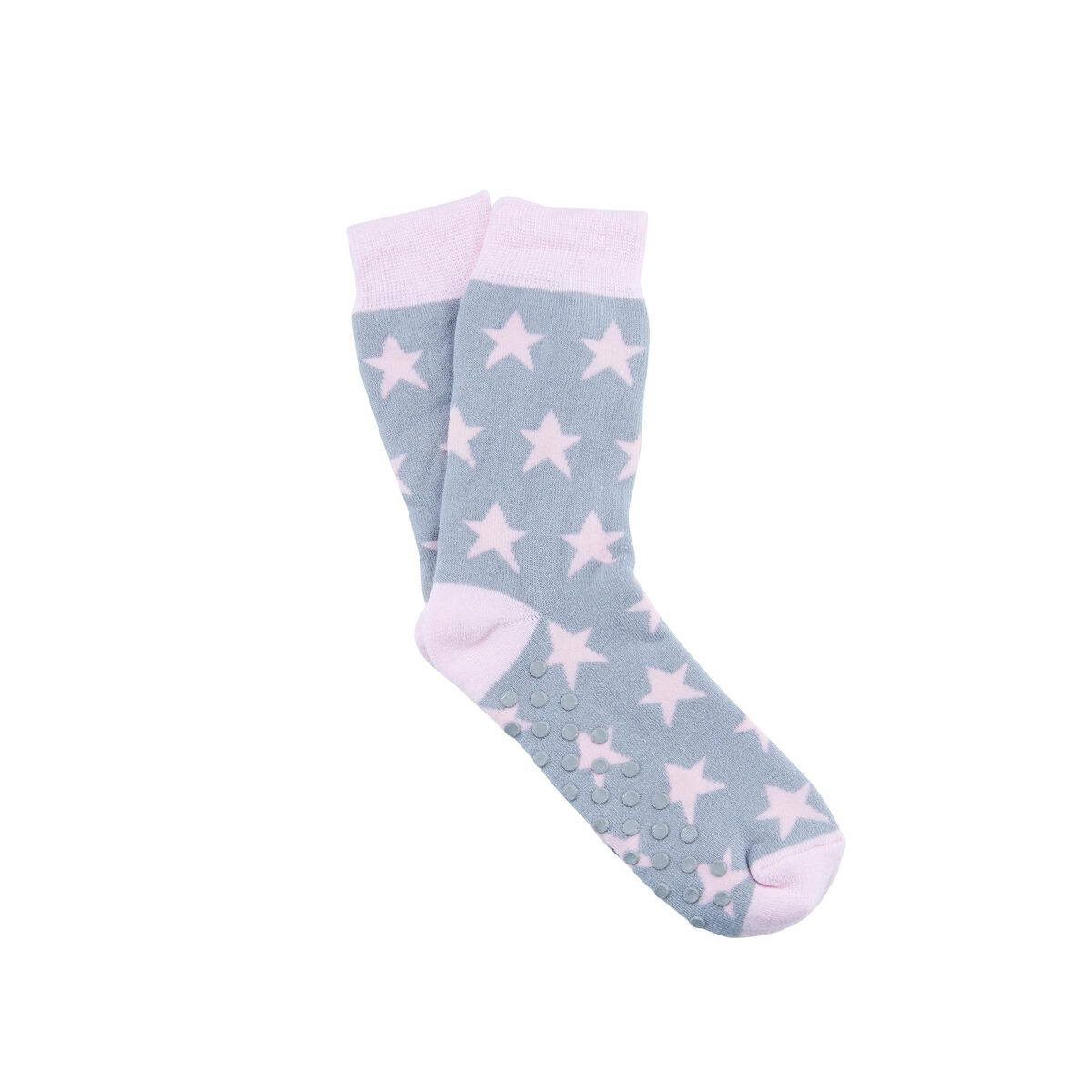 COZY SOCKS Socke Stern grau 35-38
