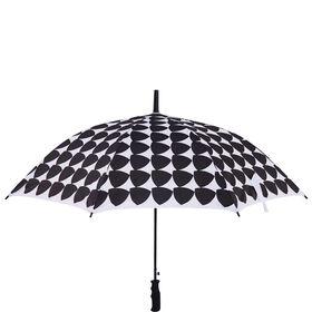 BODYGUARD Regenschirm Dreiecke s/w