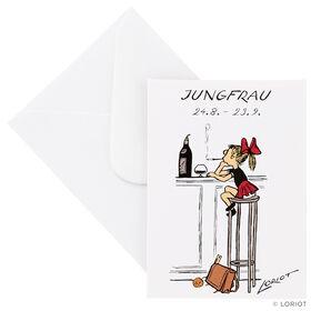 LORIOT Mini-Klappkarte Jungfrau mit Umsc