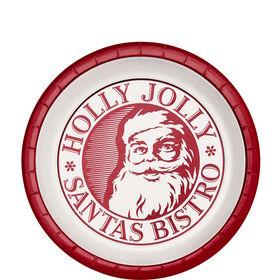 HOLLY JOLLY Pappteller, 10 Stück