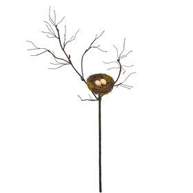 FLORISTA Zweig mit Nest 90cm